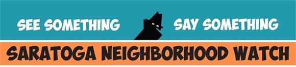 Saratoga Neighborhood Watch Banner