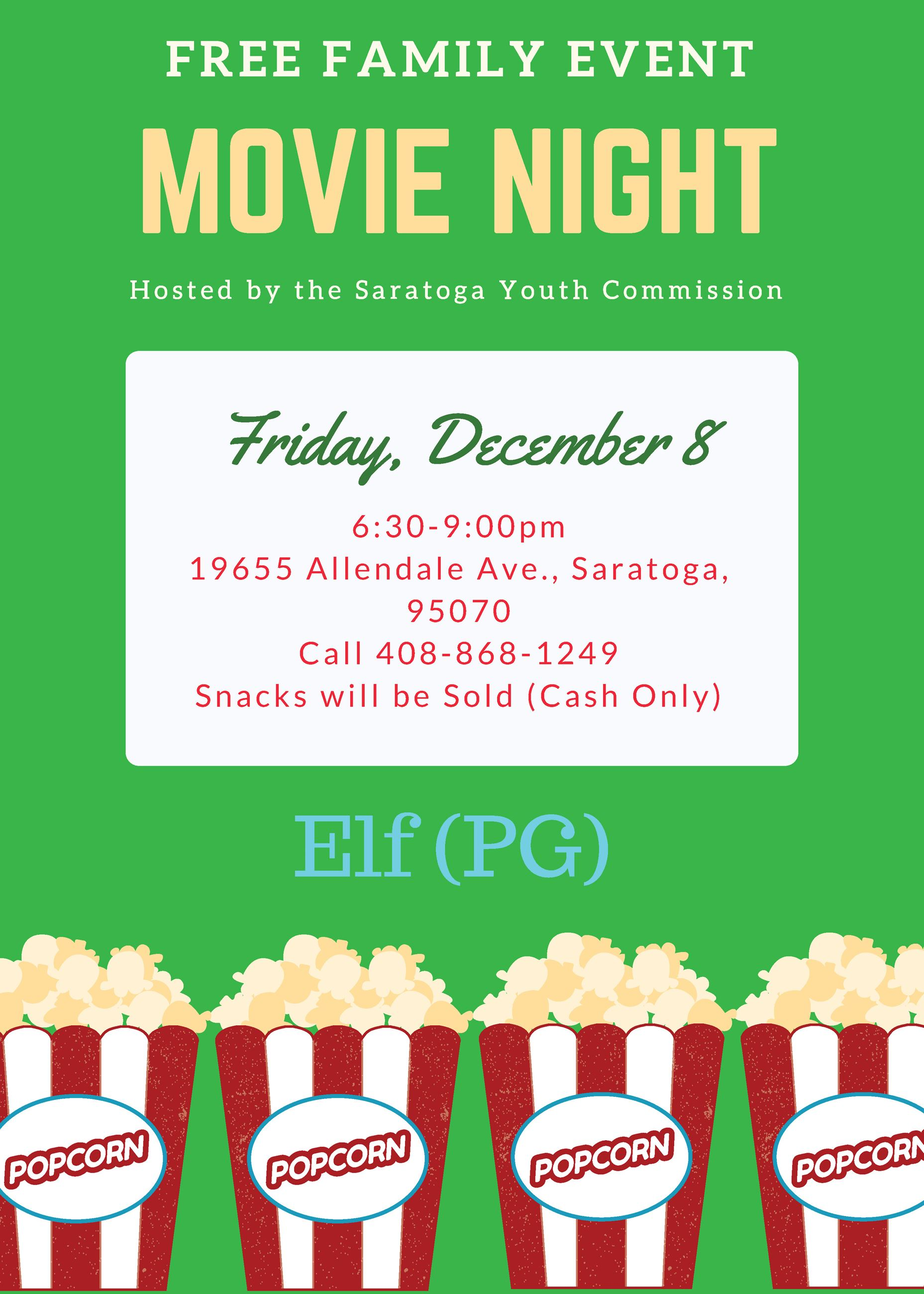 Fall Movie Night Flyer
