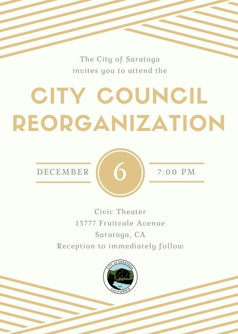 2017 City Council Reorganization Invitation