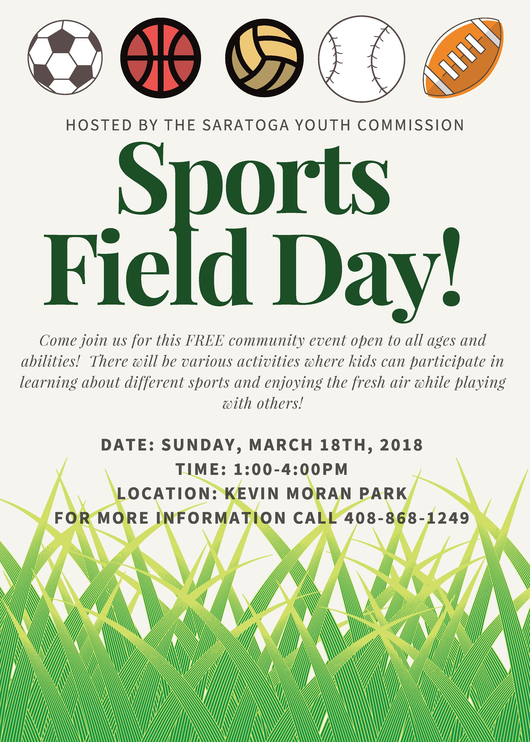 2018 Sports Field Day Flyer