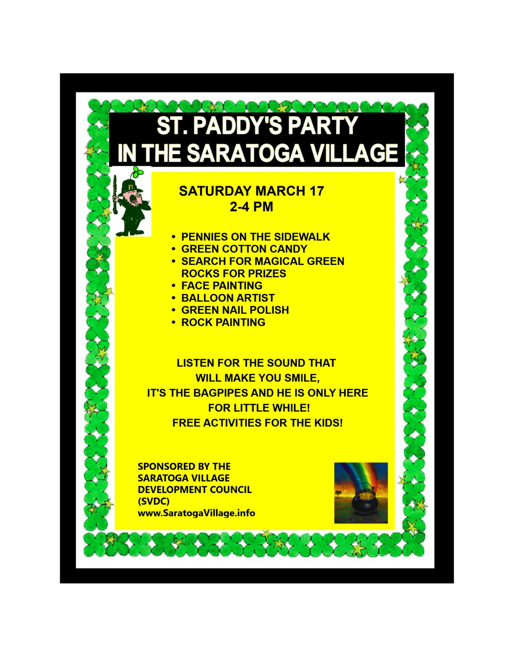 2018 St. Paddy's Party Flyer