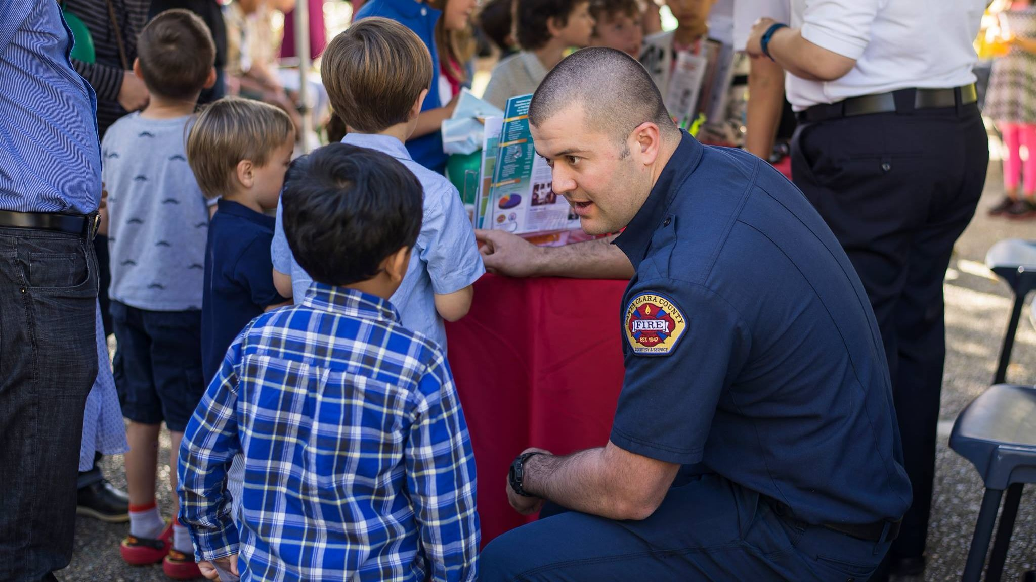 Santa Clara County Firefighter and Children