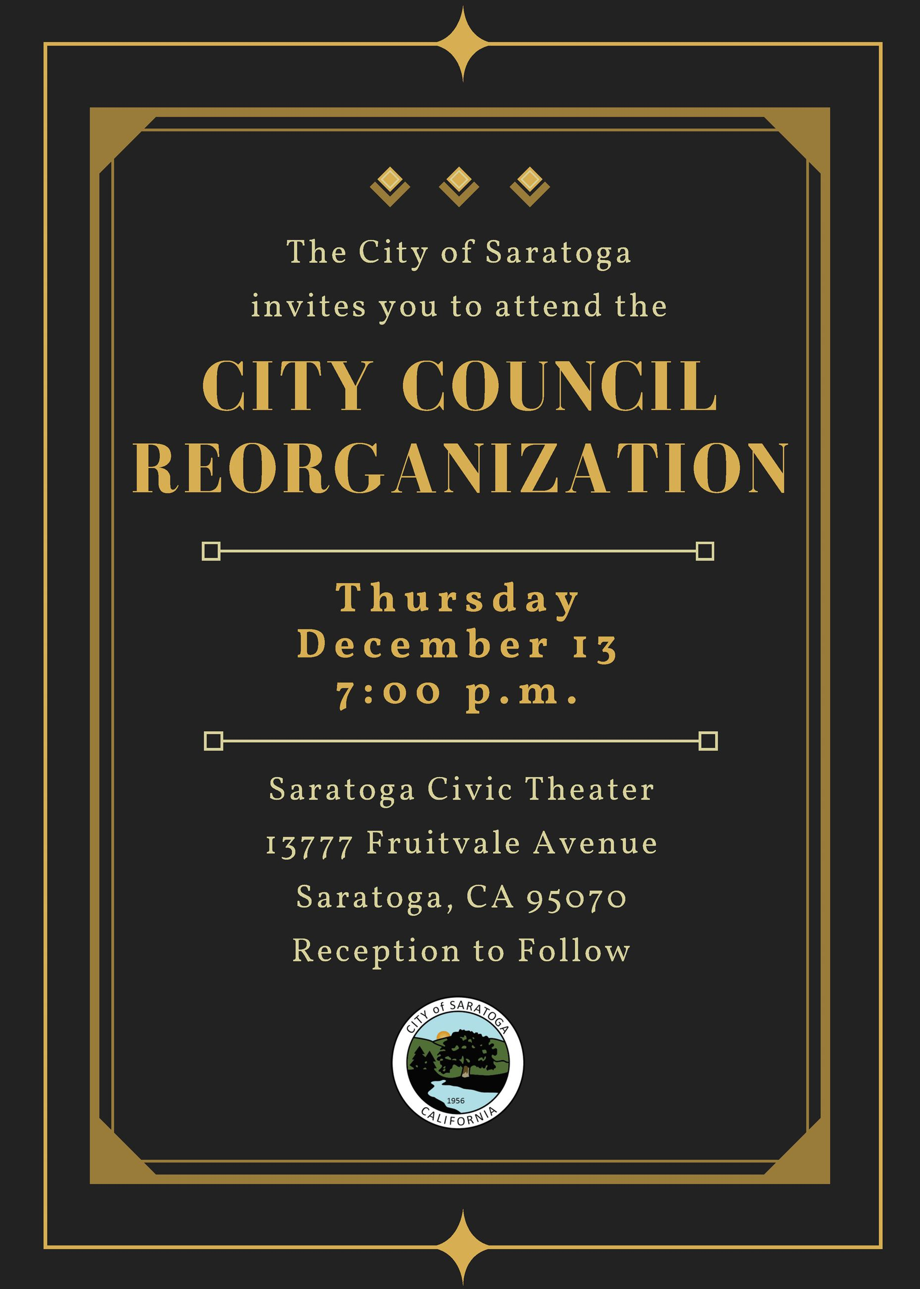 2018 City Council Reorganization