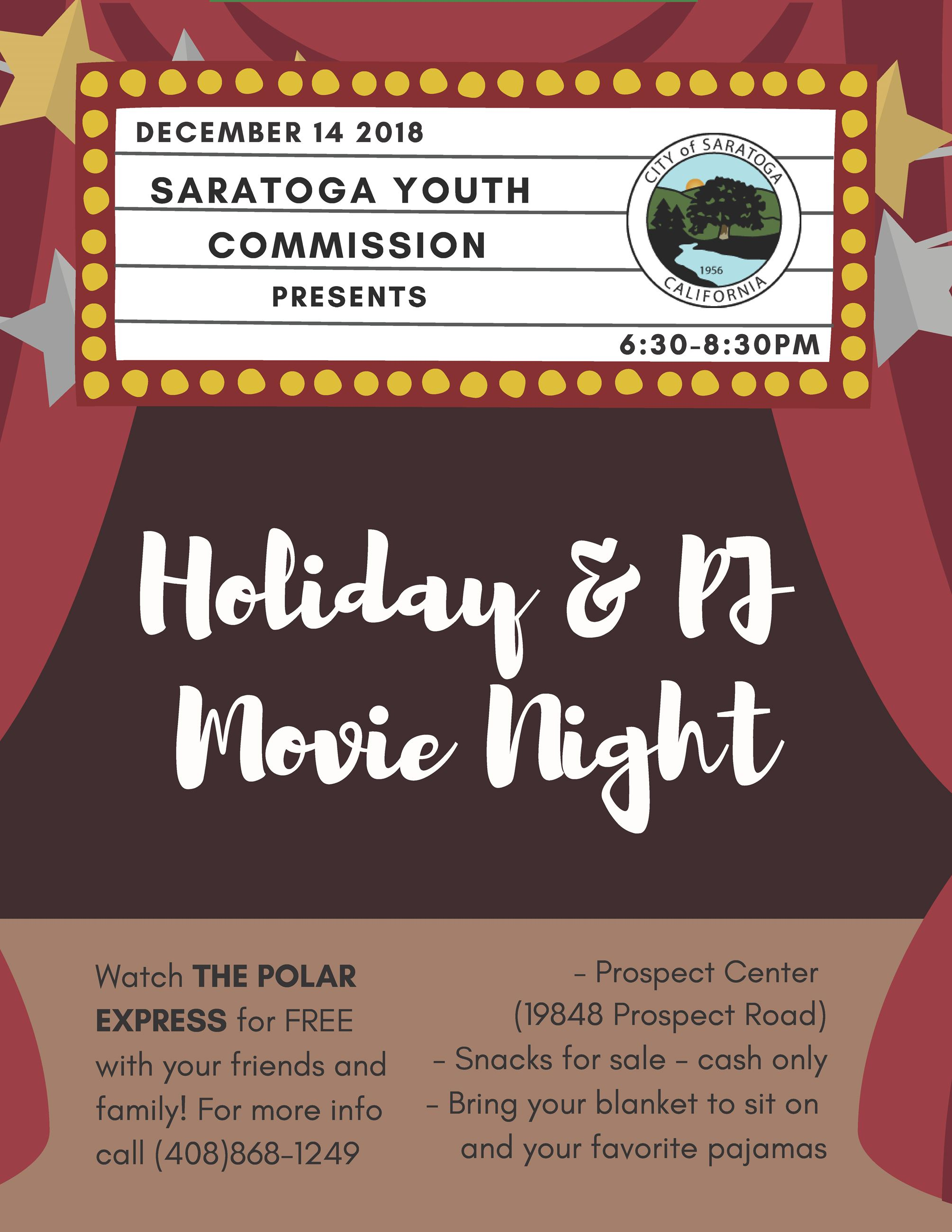 Youth Commission Holiday Movie Night 2018